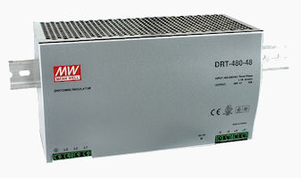 480W 3-Phase Input DIN Rail Power Supply Photo