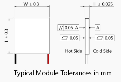 Thermoelectric Cooling Module Specifications from Advanced