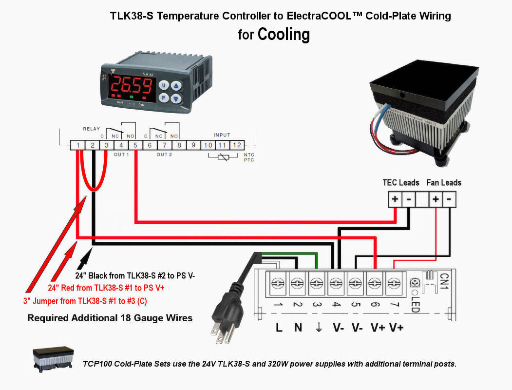 Electracool Cold Plate Wiring Instructions With The Tlk38 S Pid Controller Diagram 230v For Cooling